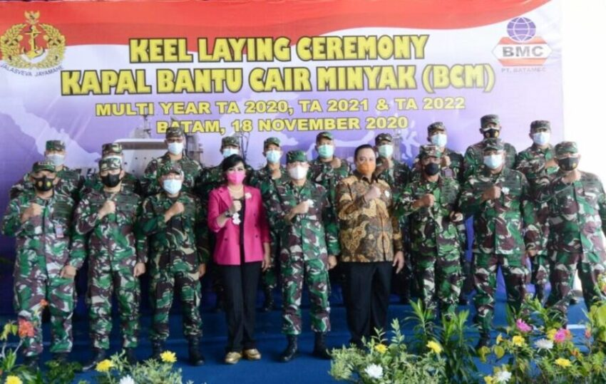 TNI AL Bangun Satu Kapal BCM di Galangan PT Batamec Batam   Suara Indonesia  News